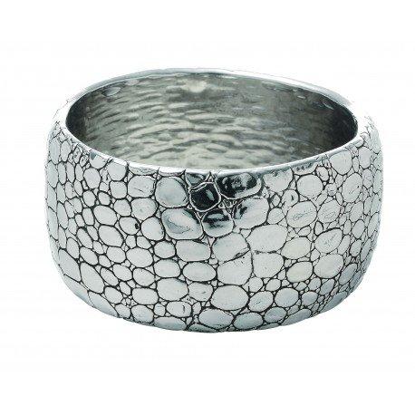 Bracciale coccodrillo in argento