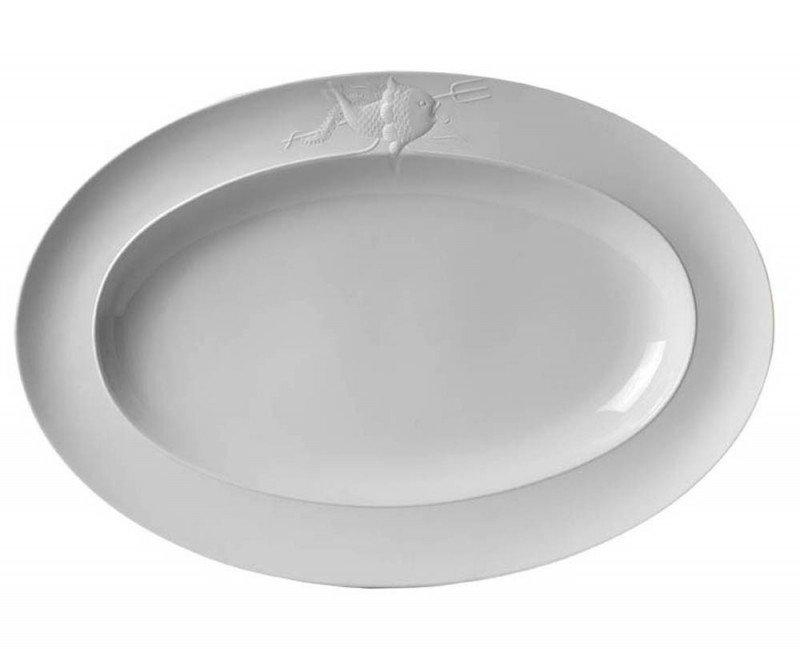 Piatto ovale grande da servire Galatea