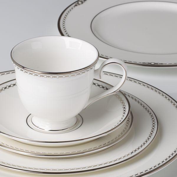 Posto tavola con tazzina Pearl Platinum
