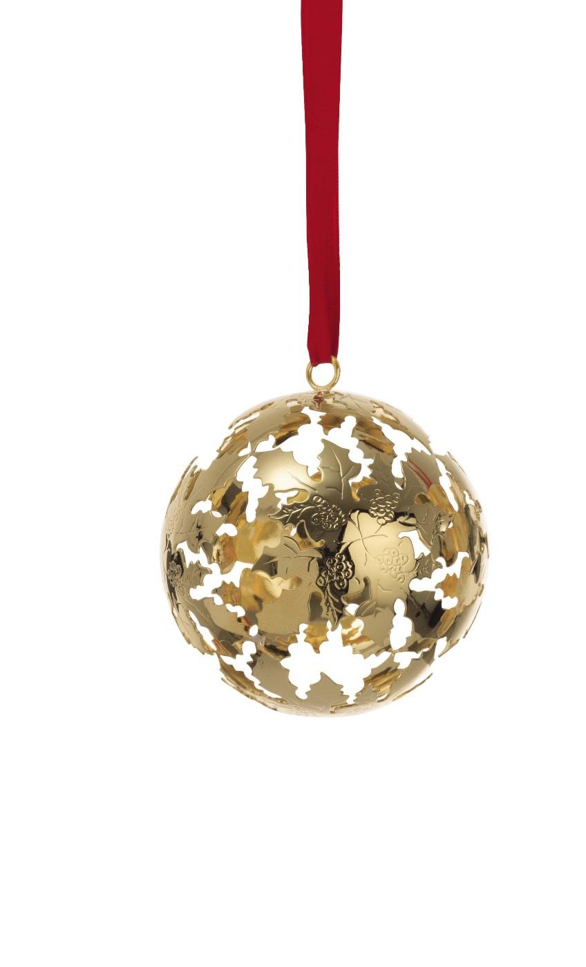 Palla di Natale in lega argentata dorata