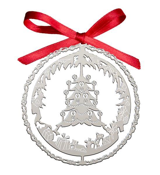 Decoro Natalizio Albero Natale Argentato