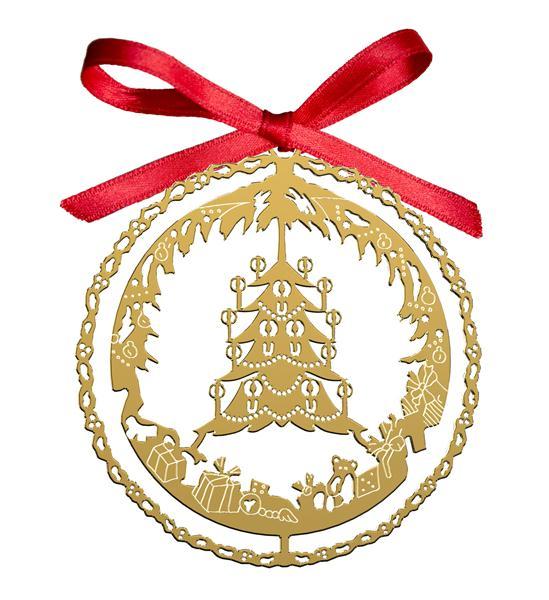 Decoro Natalizio Albero di Natale dorato