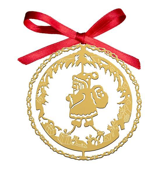 Decoro Natalizio Babbo Natale Dorato
