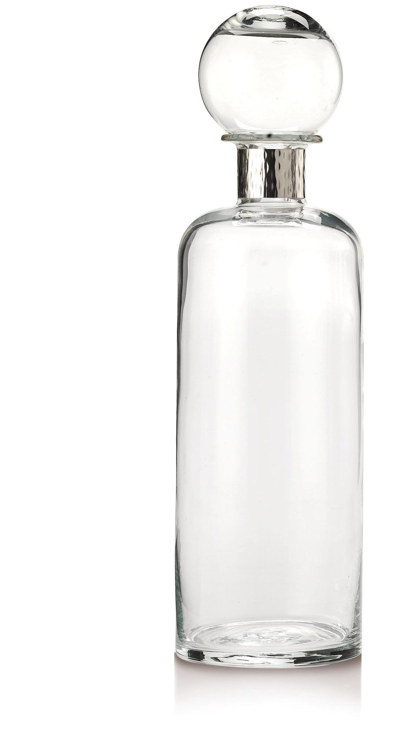 Bottiglia con collare in argento