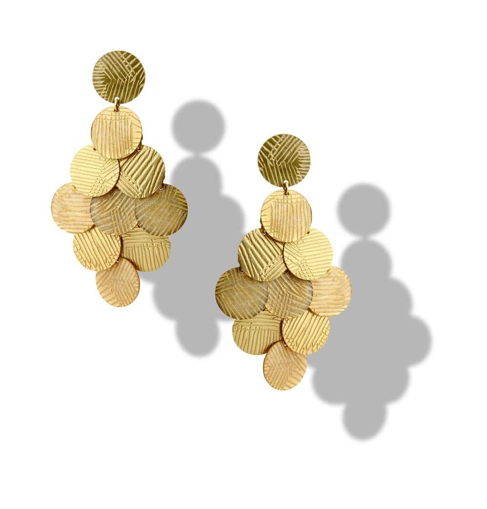 Orecchino  a grappolo oro