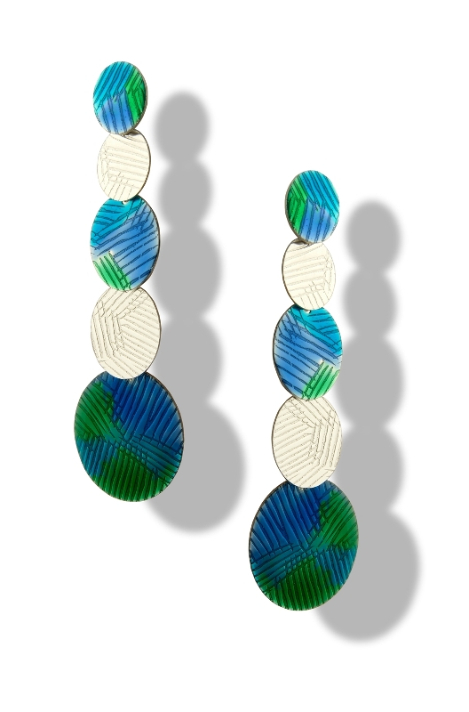 Orecchino blu-verde