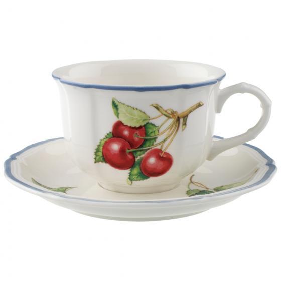 Tazza tè con piattino modello Cottage