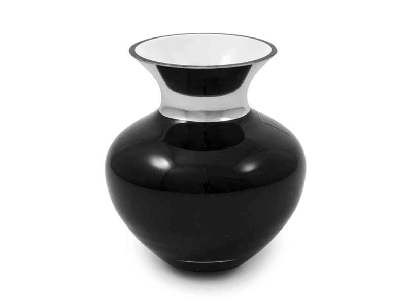 Vaso nero argentato