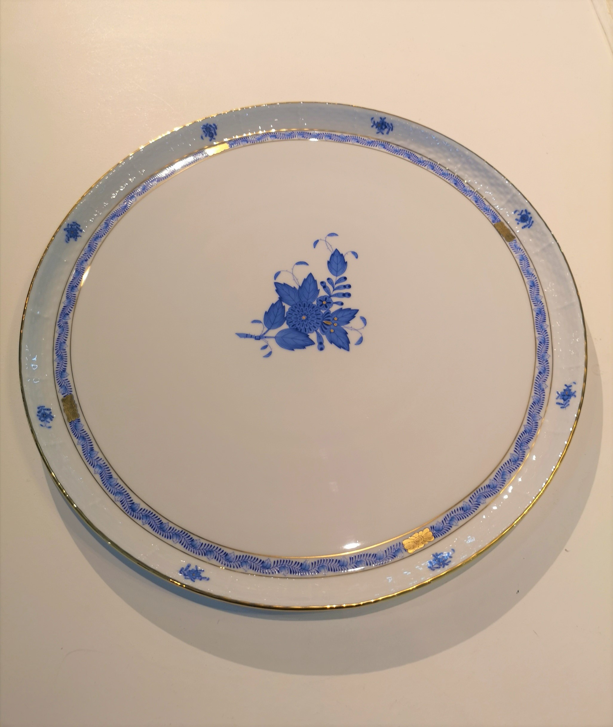 Piatto torta Appony azzurro