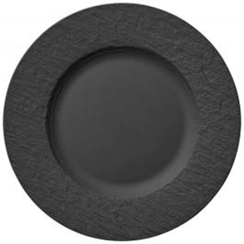 6 posti tavola Manufacture Rock nero